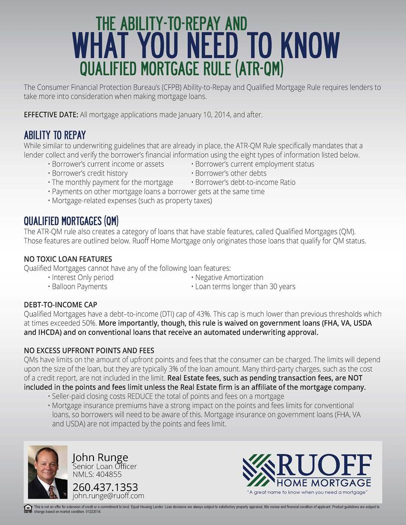 New Fed Law Mortgage Rule